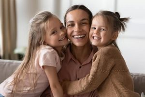 family prepares for family dentistry services